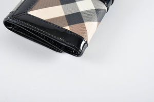 Burberry Nova Check Penrose Continental Wallet Black - Glampot