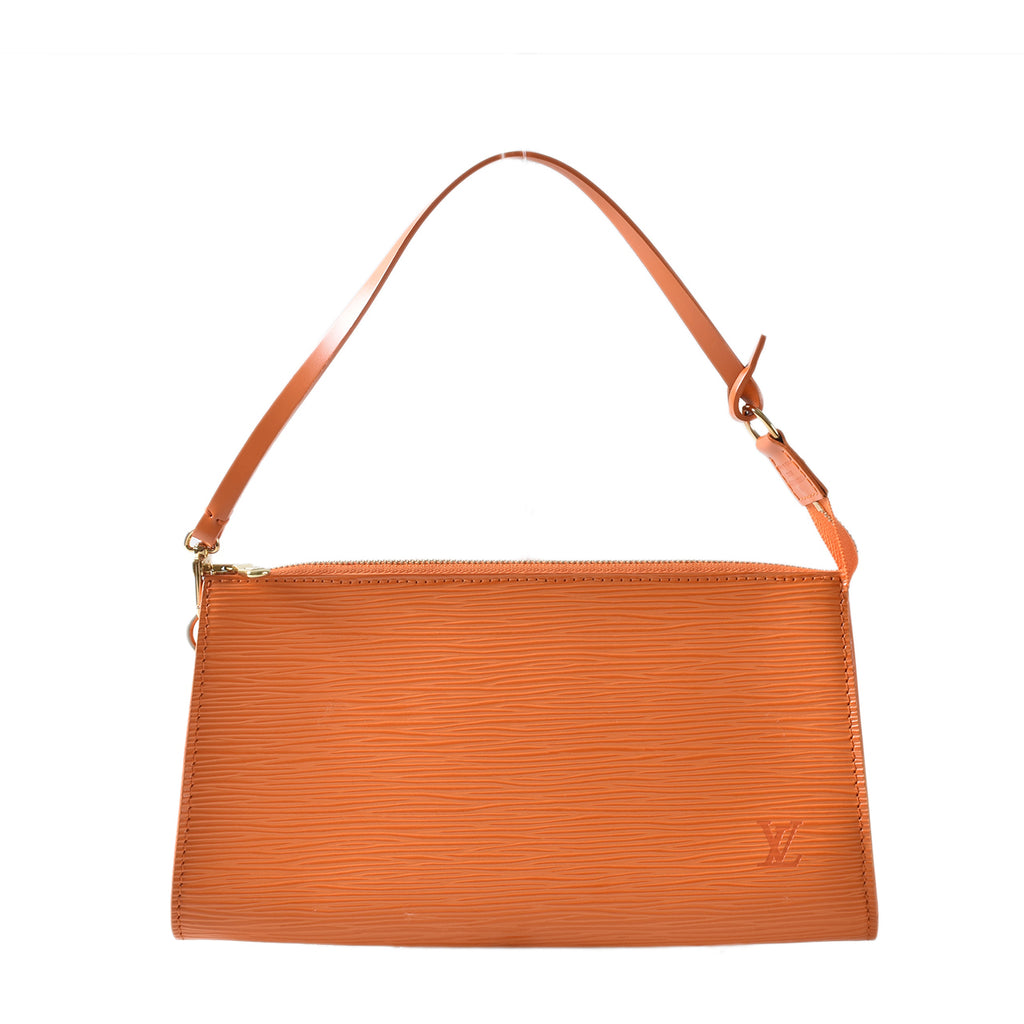 Louis Vuitton Orange Epi Leather Accessories Pochette 24 Bag