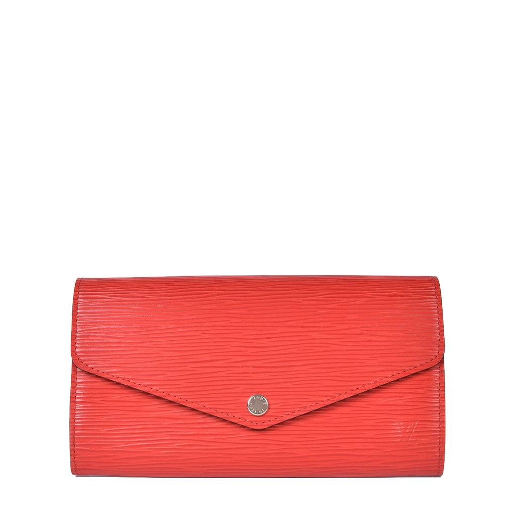 Louis Vuitton Sarah Wallet in Red Epi Leather