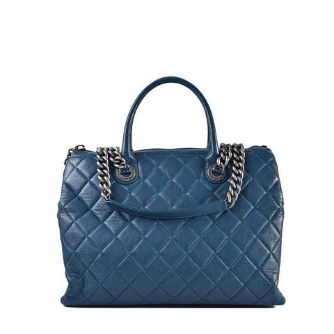 Chanel Quilted Calfskin Blue Seasonal Two Way RHW Chain Bag 20854299