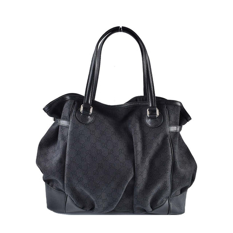 ab1f06d8b085d3 Previous. Gucci 257290 521753-04 Black Denim Guccissima Large Full Moon Tote