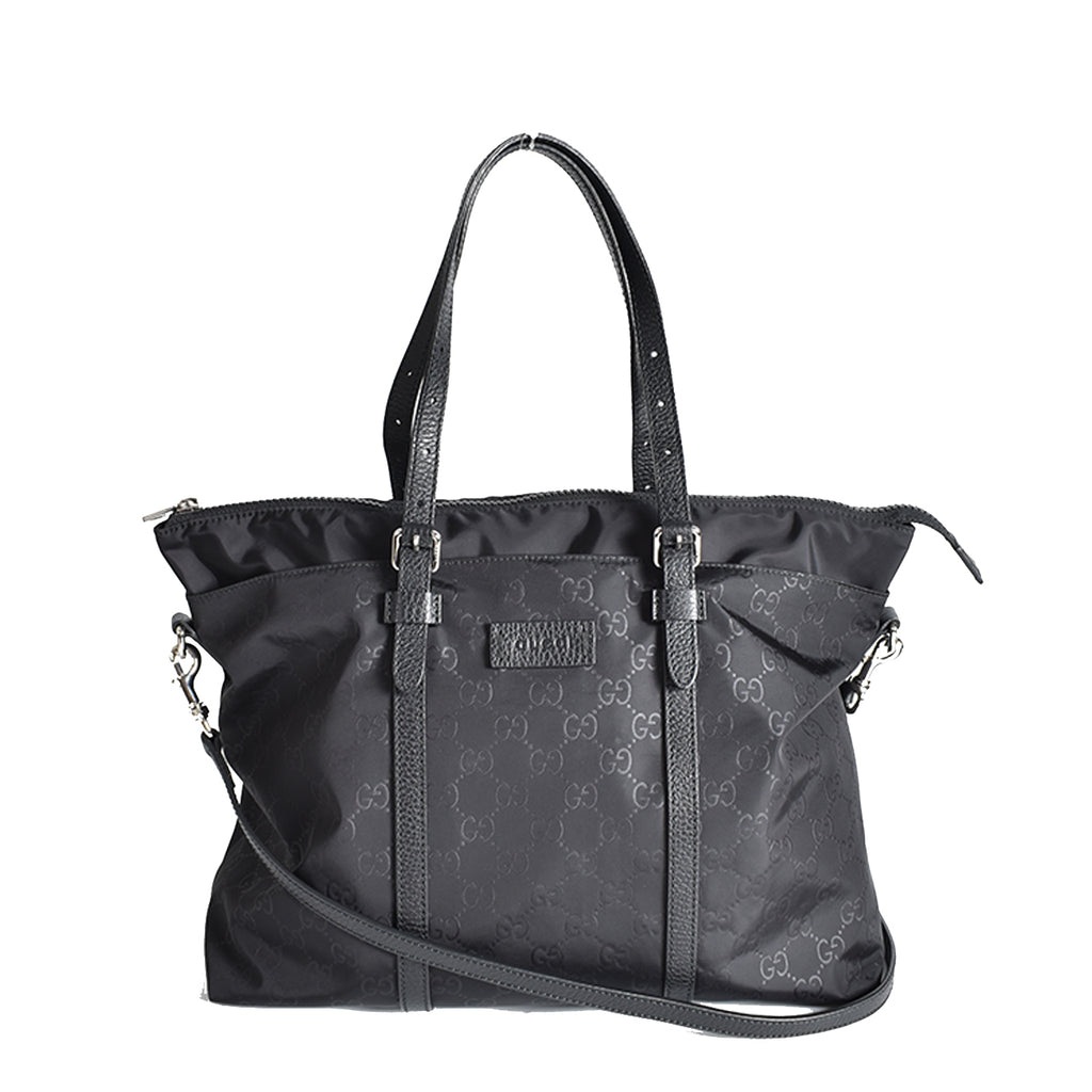 Gucci Guccissima Nylon Tote in Black 387067 493075