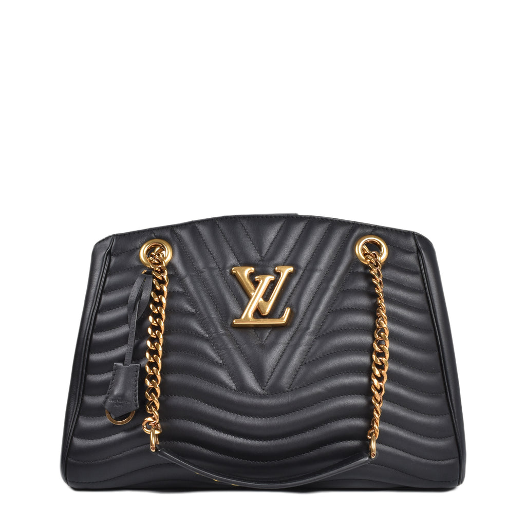 Louis Vuitton Black New Wave Chain Tote