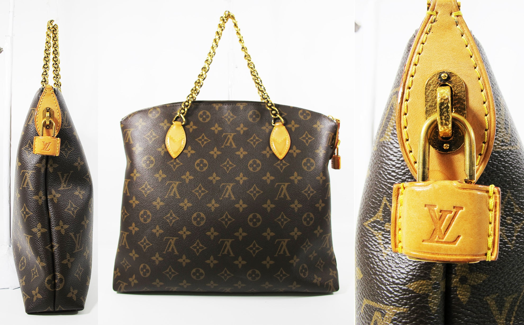 Louis Vuitton Limited Edition Monogram Canvas Lockit Chain MM Bag F/W2013