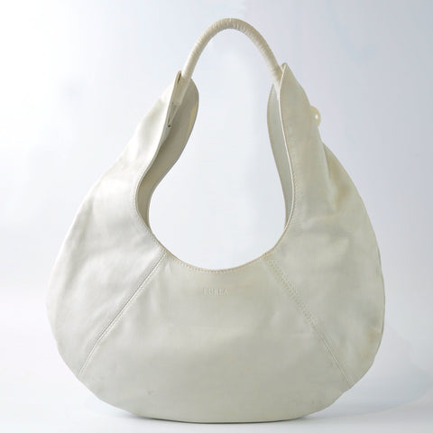 Furla White Shoulder Bag