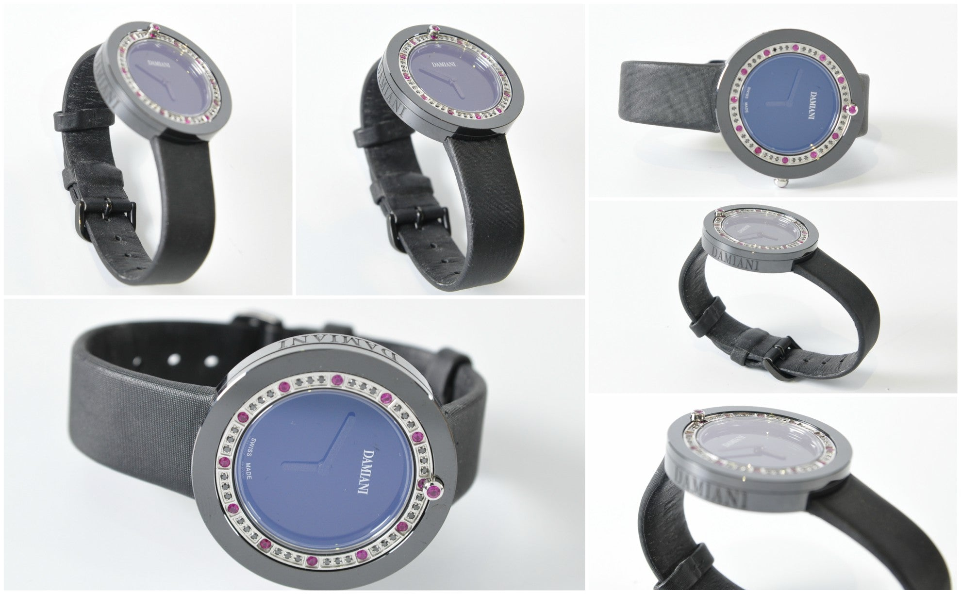Belle Epoque Black Ceramics and Ruby Watch - Glampot