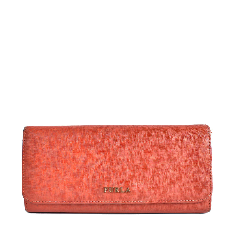 Furla Babylon XL Bi-fold Red Long Wallet