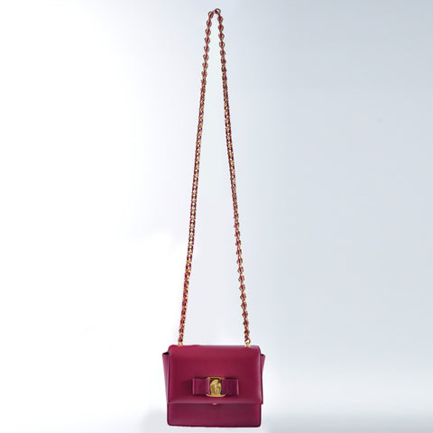 Salvatore Ferragamo Small Vara Flap Bag 21-E479