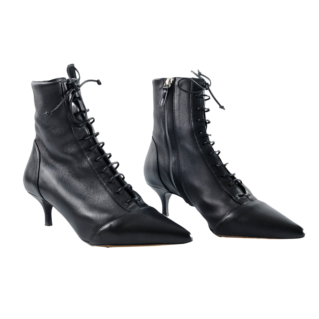 Tabitha Simmons Emmet Black Mid Heel Ankle Boots - Size 36 1/2