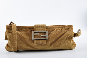 Fendi Small Corduroy Messenger Bag 2384-26685-009