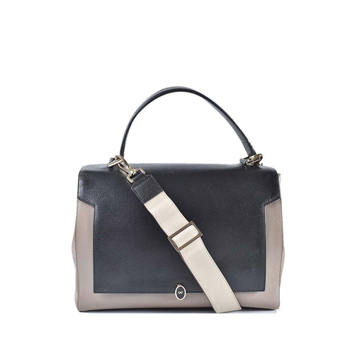 Anya Hindmarch Bathurst Bow Soft Satchel in Grey