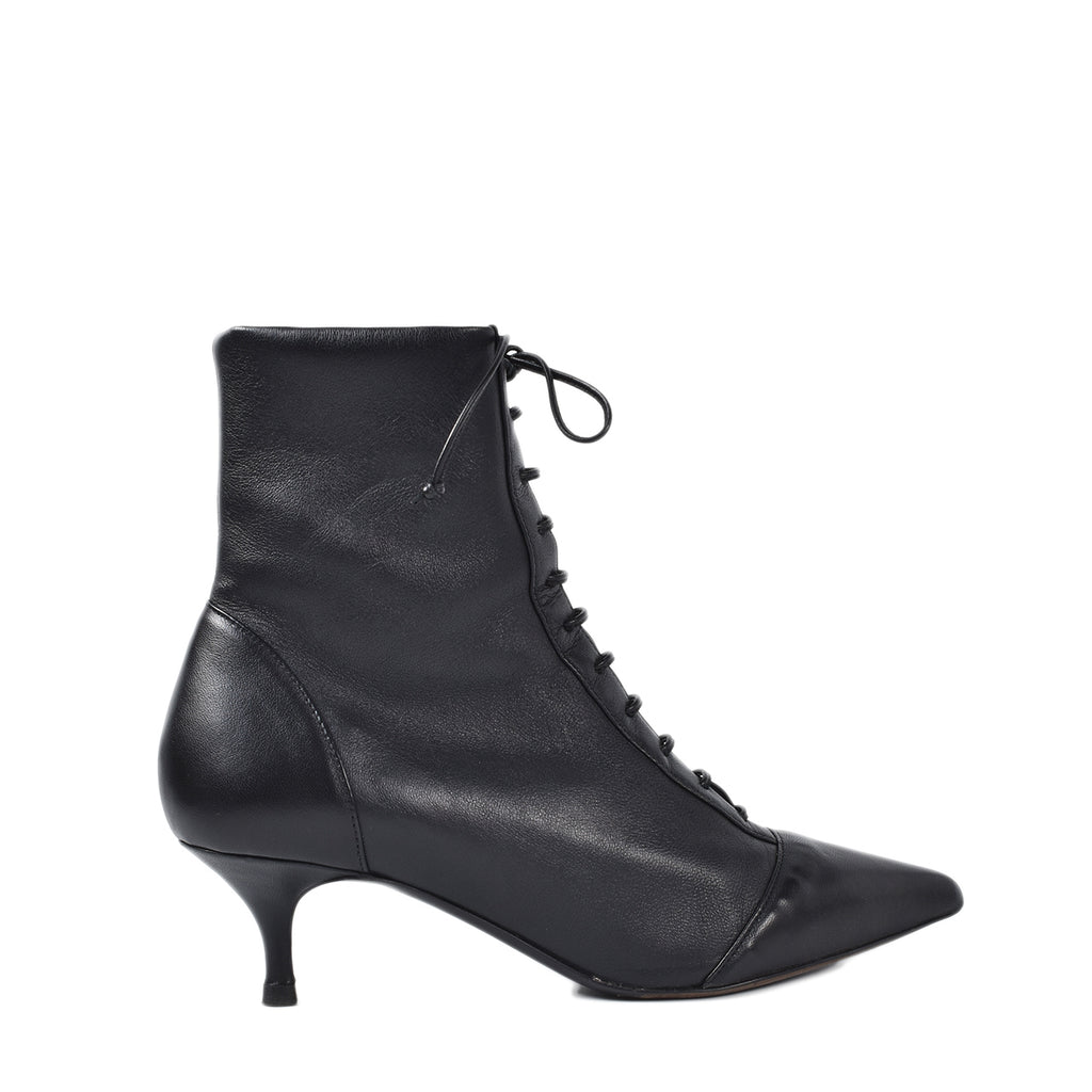 Tabitha Simmons Emmet 60 Lace-up Black Leather Ankle Boots