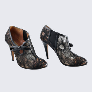 Valentino Black Lace Booties - Size 36 1/2