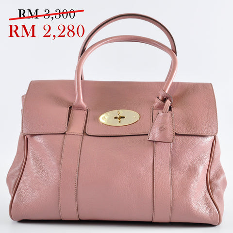 Mulberry Bayswater Glossy Goat in Dark Blush