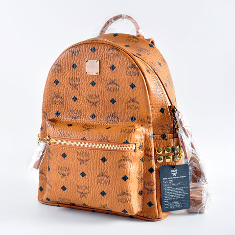 MCM Small Cognac Stark Backpack MMK 6SVE37 CO001