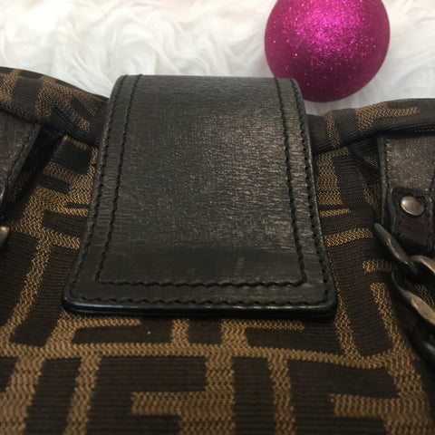 Fendi Monogram Zucca Canvas Shoulder Bag