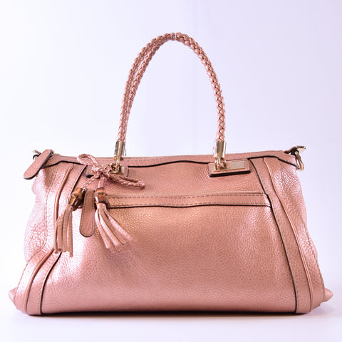 efad71778fd8 Gucci 2 Way Bag Bamboo Leather in Pink 282300 492174