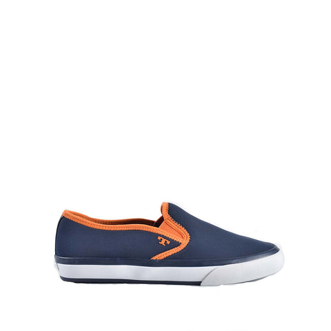 Tory Burch 11158120 Navy/Orange Neoprene Slip On Sneaker-Matte Finished