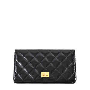 Chanel Reissue Long Wallet Quilted Leather in Black