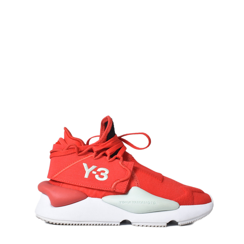 Y-3 Kaiwa Knit Trainer Sneakers in Red