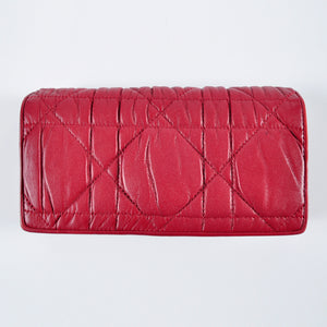 Christian Dior Rendez-vous Gaufre Cannage Rouge Wallet 02-LU-0160