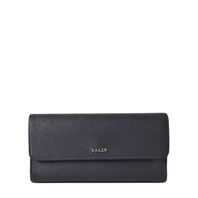 Bally Linney Calf Leather Continental Wallet in Black