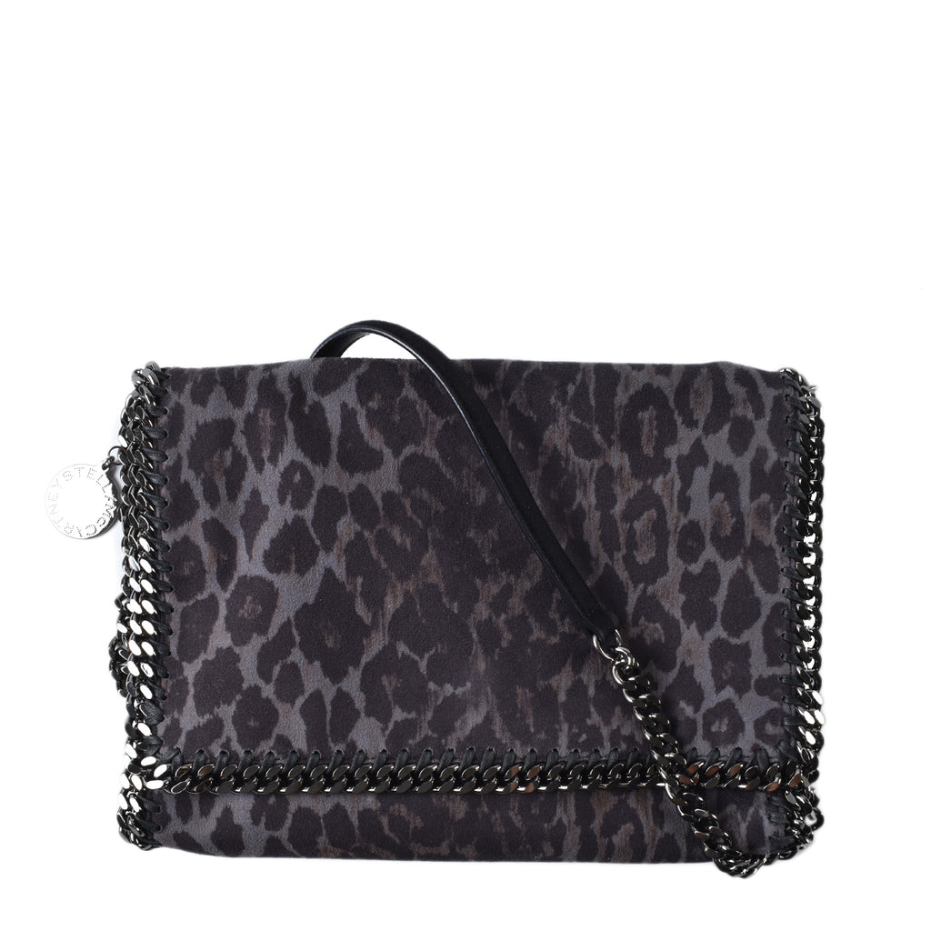 Stella Mccartney Falabella Shaggy Deer Crossbody with Flap in Leopard Print