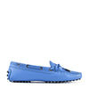 Tod's Women's Leather Loafers Moccasins Heaven Laccetto Occhielli Blue