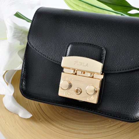 Furla Black Metropolis Crossbody Bag