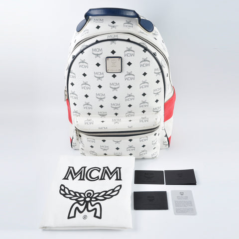 MCM Large Backpack in White