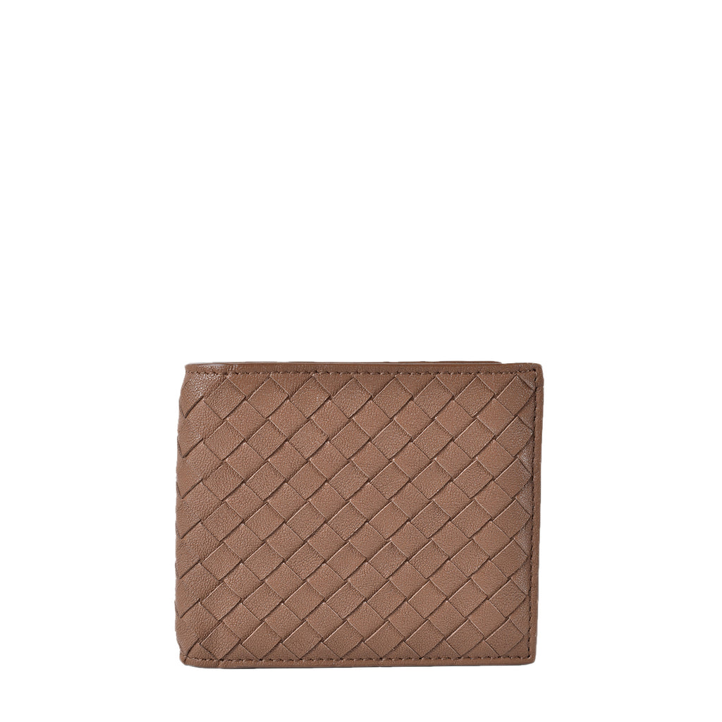Bottega Veneta Brown Folded Intrecciato Leather Mens Wallet