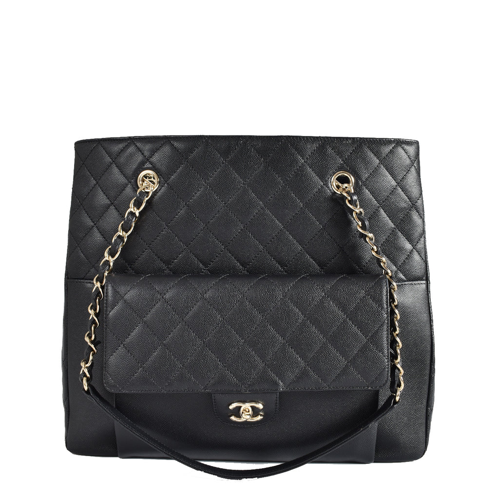 Chanel Large Quilted Caviar Tote GHW 27172199