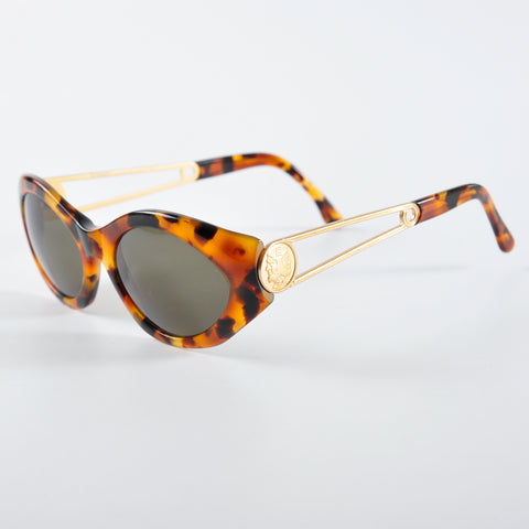 Fendi Vintage Tortoise Shell Cat Eye Shades FS302 54 17 col 786 140