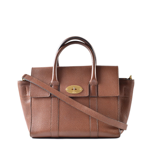 Mulberry Brown Tan Leather Small Bayswater Bag