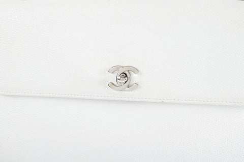 Chanel Vintage White Caviar SHW Shoulder Bag 6064662 - Glampot