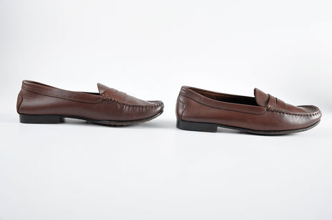 Tod's Junior Women's Dark Brown Leather Penny Loafer - Size 38