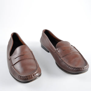 Tod's Junior Women's Dark Brown Leather Penny Loafer