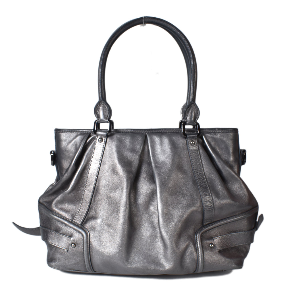 Burberry 3712575 Women's Leather Shoulder Bag Silver