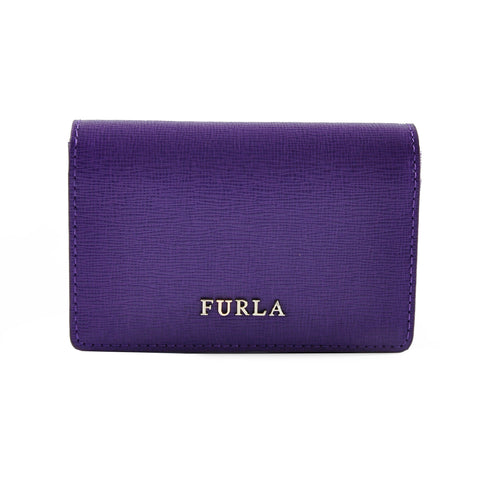 Furla Classic Credit Card Holder in Purple