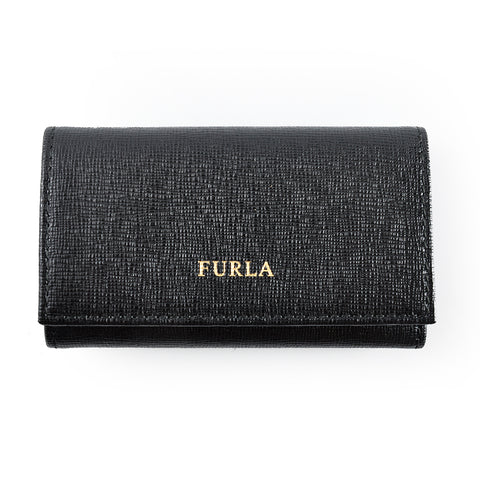 Furla Classic Key Holder in Black GHW