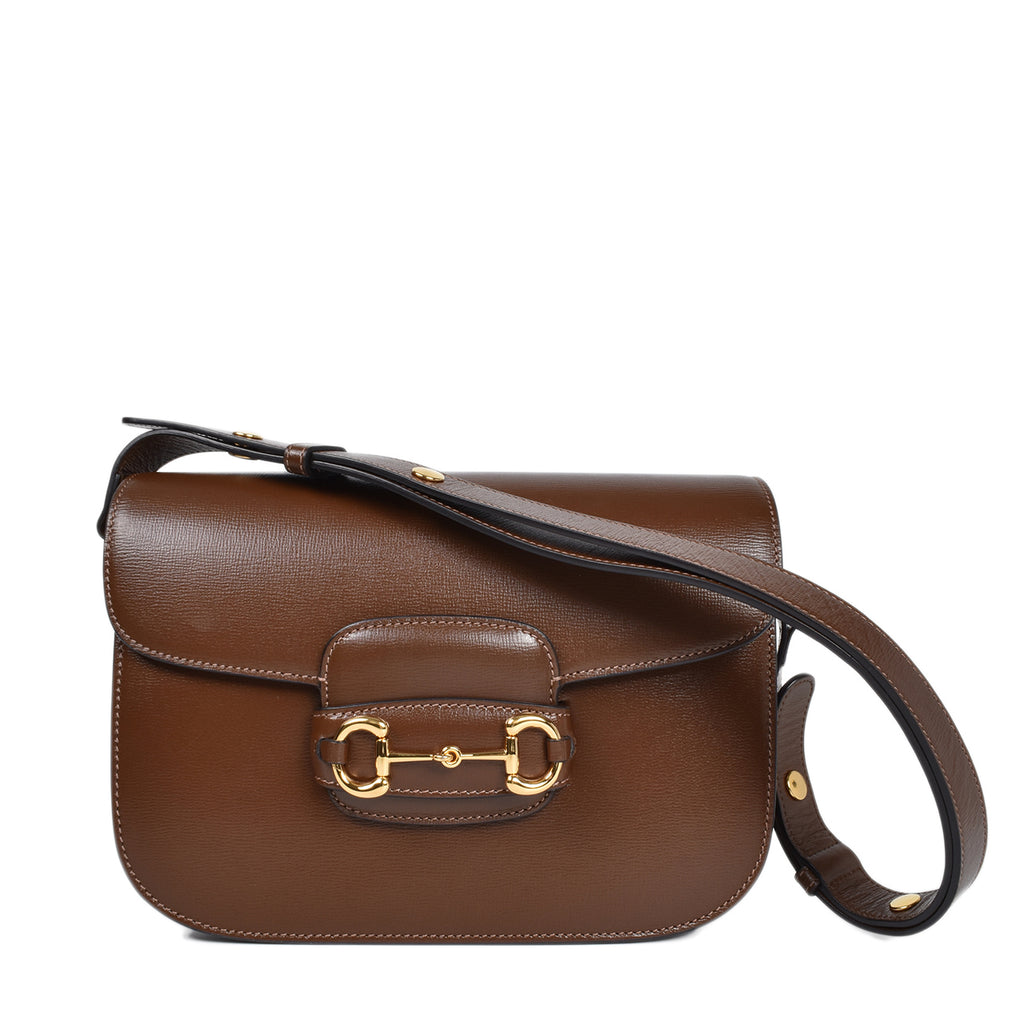 Gucci Horsebit 1955 Shoulder Bag in Brown Leather