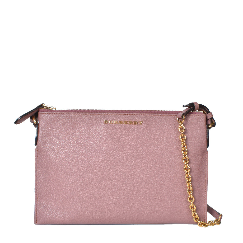 Burberry 4033336 1 Dusty Pink Soft Grain Peyton Crossbody