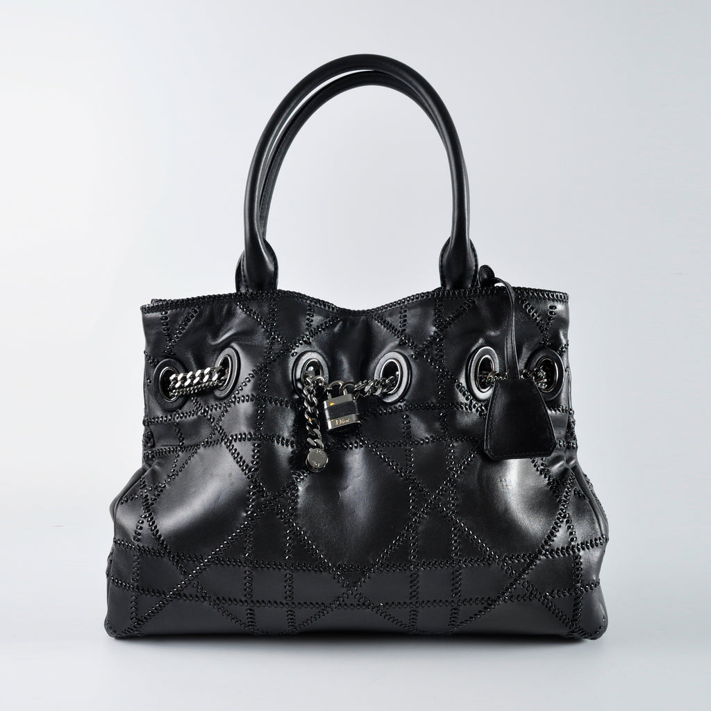 Dior All Black Chain Tote