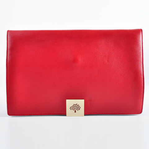 Mulberry Clutch in Red/Maroon