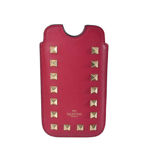 Valentino A43019549 Studded Phone Pouch in Y35 Berry