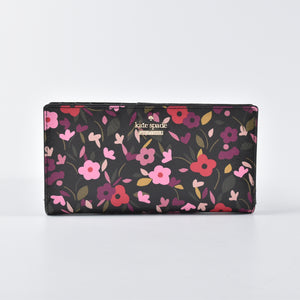 Kate Spade PWRU5839 Cameron St Boho Black Multi Stacy Wallet