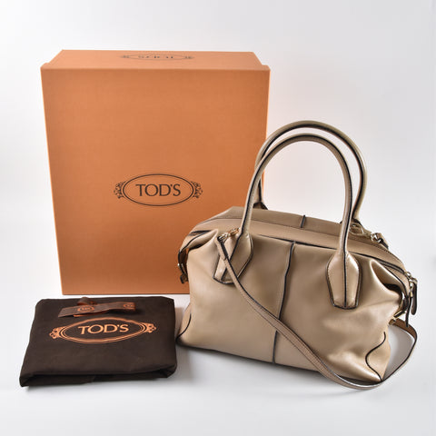 2efd89a6087b7 Tod's Light Tan Leather D-Styling Tote Bag – Glampot