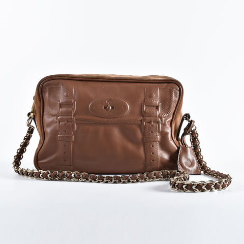 Mulberry Shadow Alexa Satchel in Brown