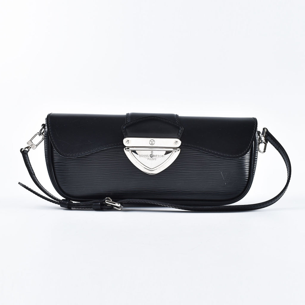 Louis Vuitton Epi Leather Pochette Montaigne in Noir M59292