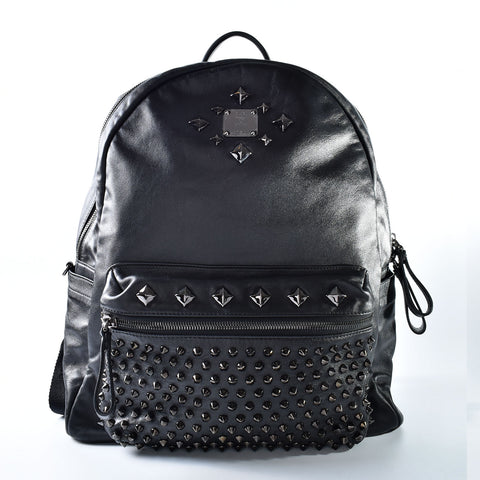 MCM Stark Black Nappa Leather Backpack MMK 4SVE59 BK001
